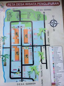 Peta Desa Penglipuran